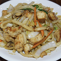 Chicken Yaki Udon Noodle (Stir Fried)